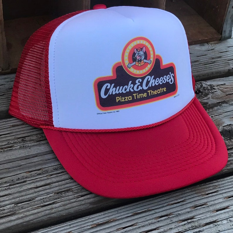d67ffdea46bb8 Chuck E Cheese s Pizza Time Theatre Trucker Hat Vintage