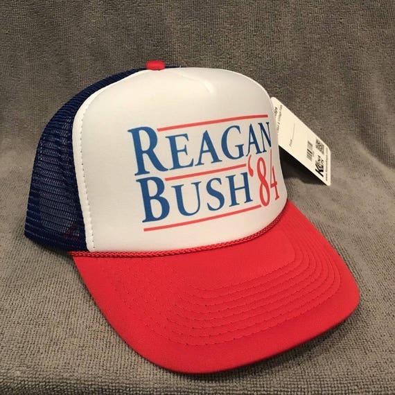 Reagan Bush 84 FREE SHIPPING! Vintage Style Trucker Hat