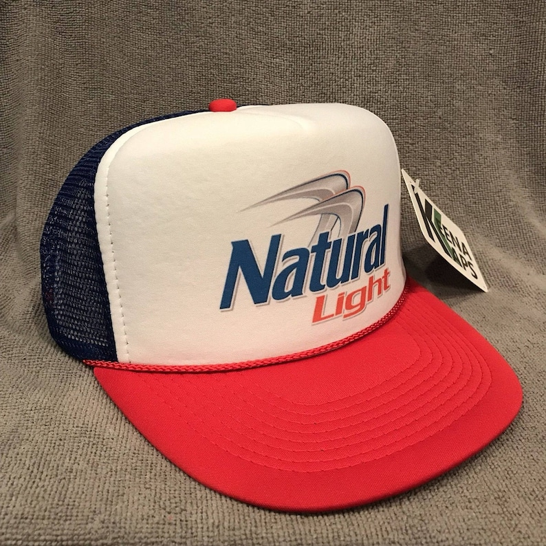 Natural Light Beer Trucker Hat Vintage Snapback Party Cap Red  21a9e7779e1