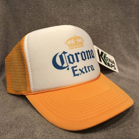 5196c36468c Corona Extra Beer Trucker Hat Old Logo Vintage Snapback Party