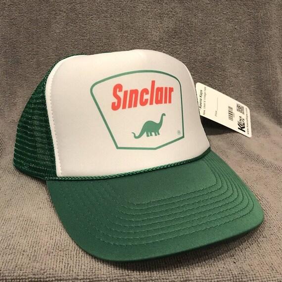 SINCLAIR DINO Gasoline Logo Distresses Denim Hat Cap Dinosaur