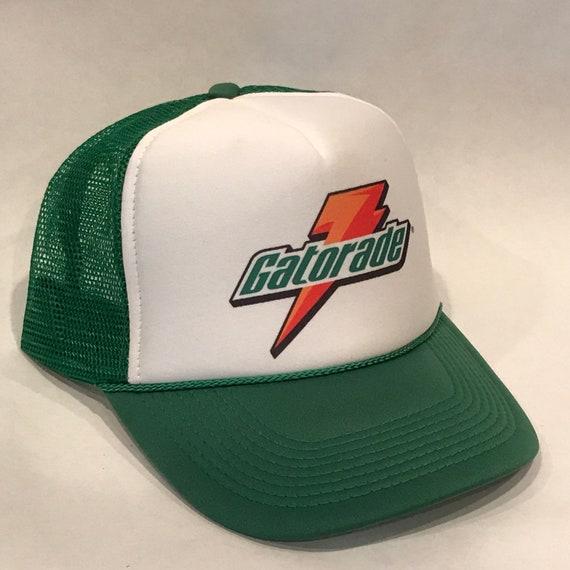 gatorade thirst quencher sports drink trucker hat snapback cap etsy