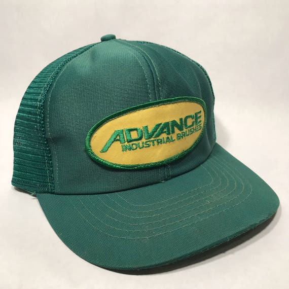 1e720fb5a66c1 Advance Industrial Brushes Trucker Hat Vintage SnapBack Green