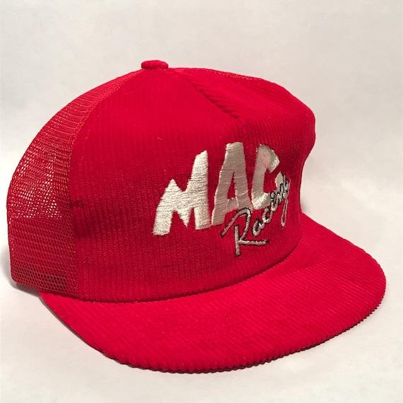 0f61775af67aee MAC Racing Corduroy Mesh Trucker Vintage Hat SnapBack Cap 2370