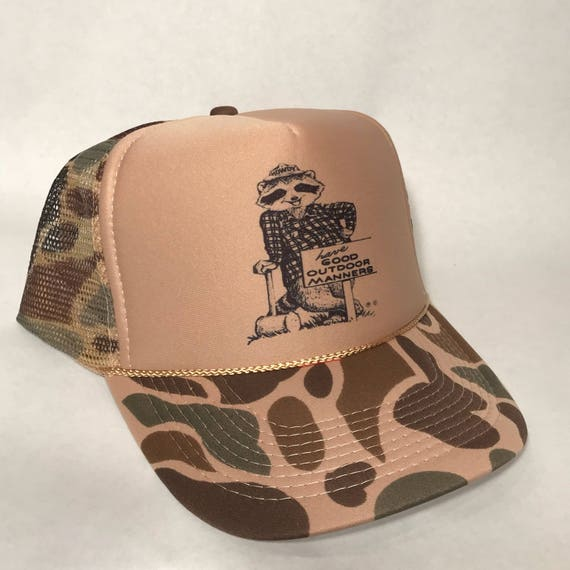 Howdy Raccoon Trucker Hat Have Good Manners US Forest Service  fe536817376