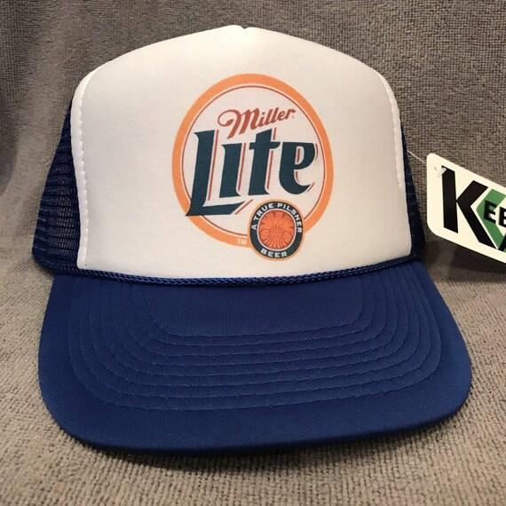vintage Miller Genuine Draft beer Trucker Hat mesh hat snapback hat yellow