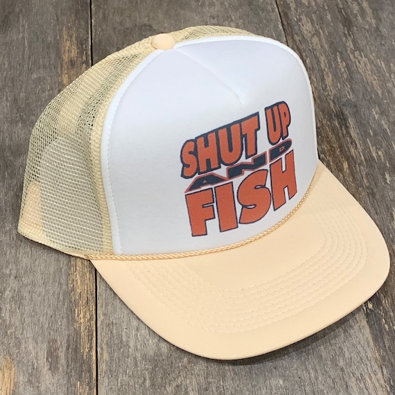 Bass Fishing Lucky Fisherman's Vintage 80's Trucker Hat Snapback Mesh Cap Green