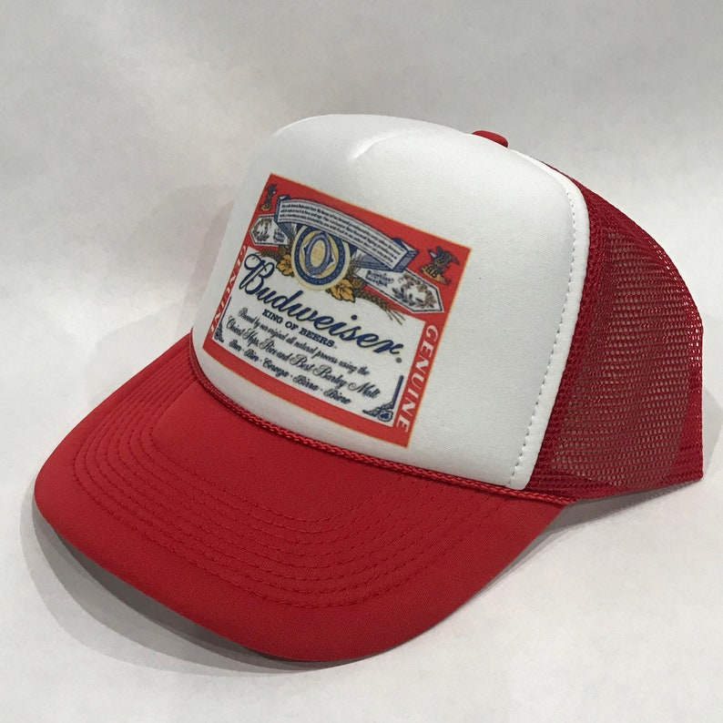 c9894b35 Budweiser King Of Beers Trucker Hat Vintage 80's Mesh Back Snapback Cap  Clothing, Shoes & Accessories ...