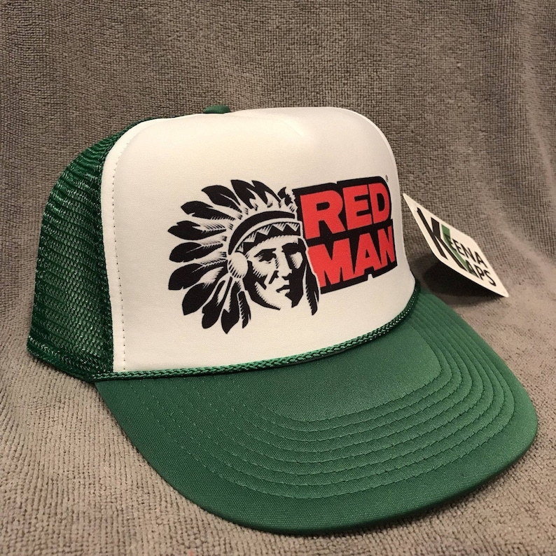 9c36378ac91d2 Red Man Chewing Tobacco Trucker Hat Vintage Snapback Cap