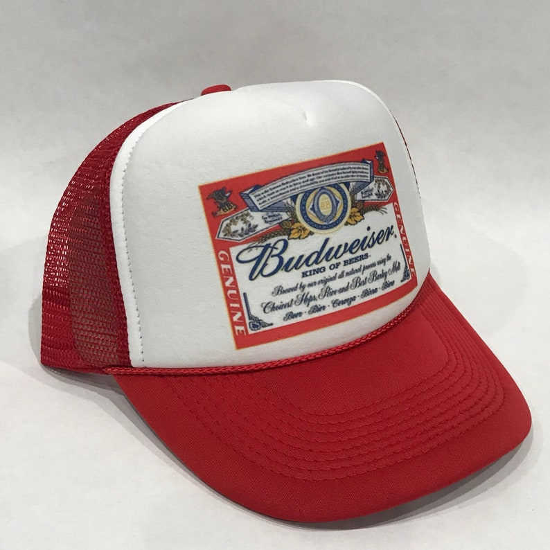 a6d3fe3f1dd Budweiser King of Beers Trucker Hat Bud Light Vintage 80 s