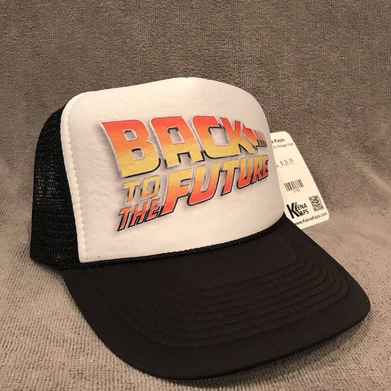 Back To The Future Trucker Hat Movie Promo Logo Snapback Cap  f163dd46deff