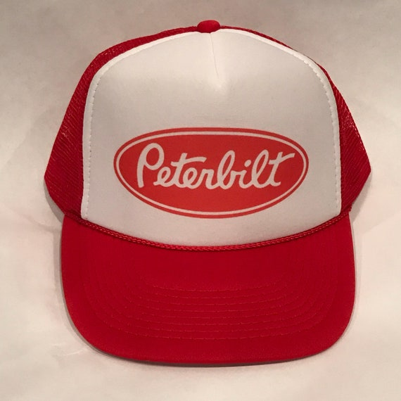 Peterbilt Red Trucker Hat Semi Truck Big Rig Vintage SnapBack  747fb74e3d13