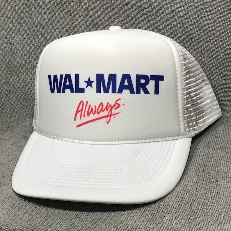 396ef74d0 Wal-Mart Always Employee Trucker Hat Vintage Snapback Cap White Mesh