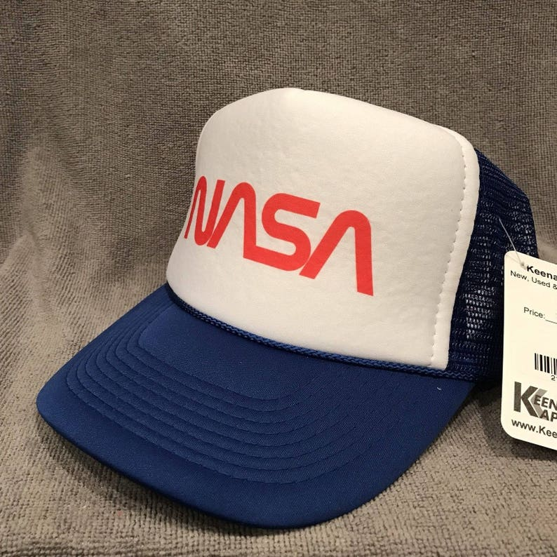 d3a6a06849ce6 NASA Trucker Hat Space Program Old Logo Vintage Snapback Cap