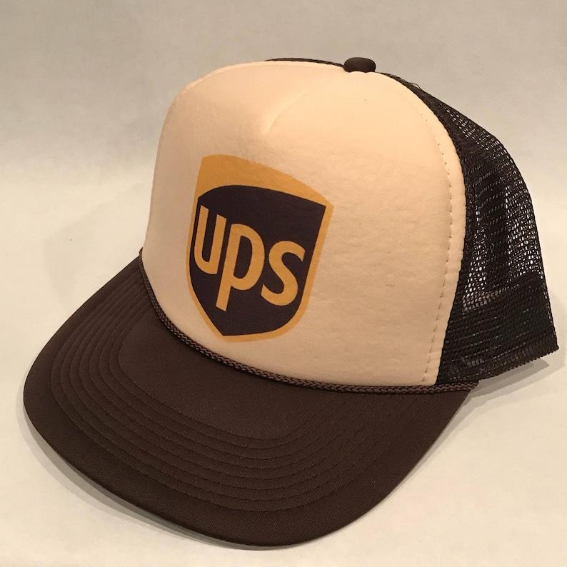 78341d65d85 UPS United Parcel Service Vintage Mesh Snapback Cap Package