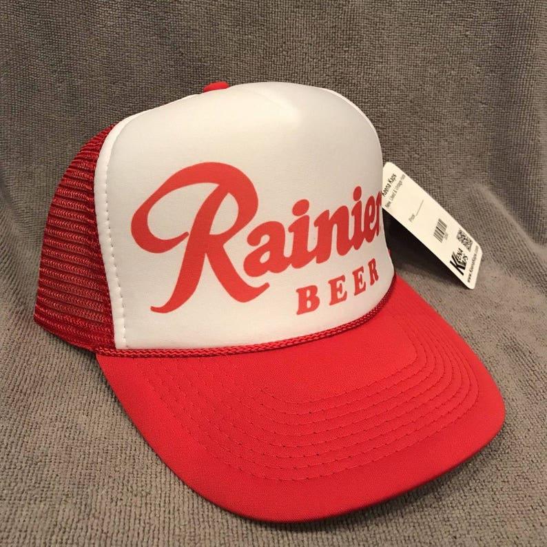 Rainier Beer Trucker Hat Vintage Mesh Back Snapback Cap  5de4e6a18b3