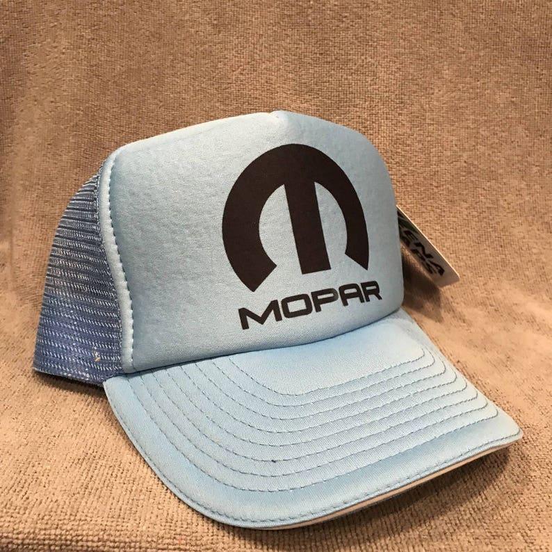 645b91e5c16 Mopar Trucker Hat Vintage Dodge Light Blue Challenger Mesh