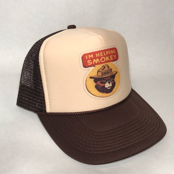 I m Helping Smokey the Bear Trucker Hat Only You Can  e058ac630cc