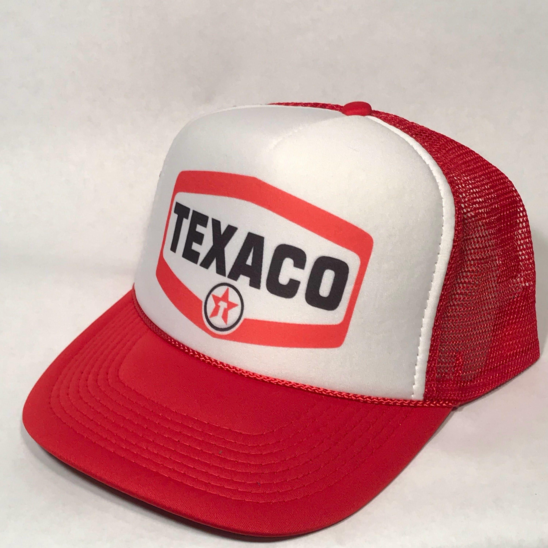 Texaco Gas Station Trucker Hat Vintage Mesh Snapback Cap  c035bc432951