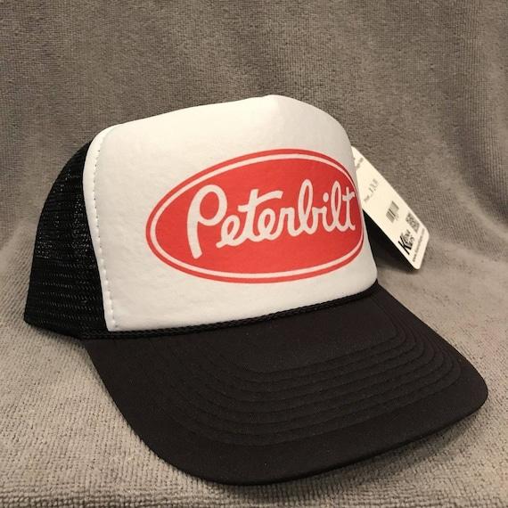 Peterbilt Trucker Hat Vintage Farmer Semi Truck Mesh Snapback  9cd42a59473