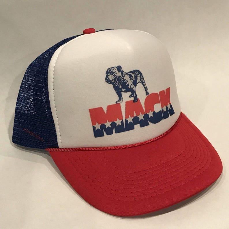 Vintage Mack Trucks Trucker Hat Old Bulldog Logo Snapback  19a4ba20afa