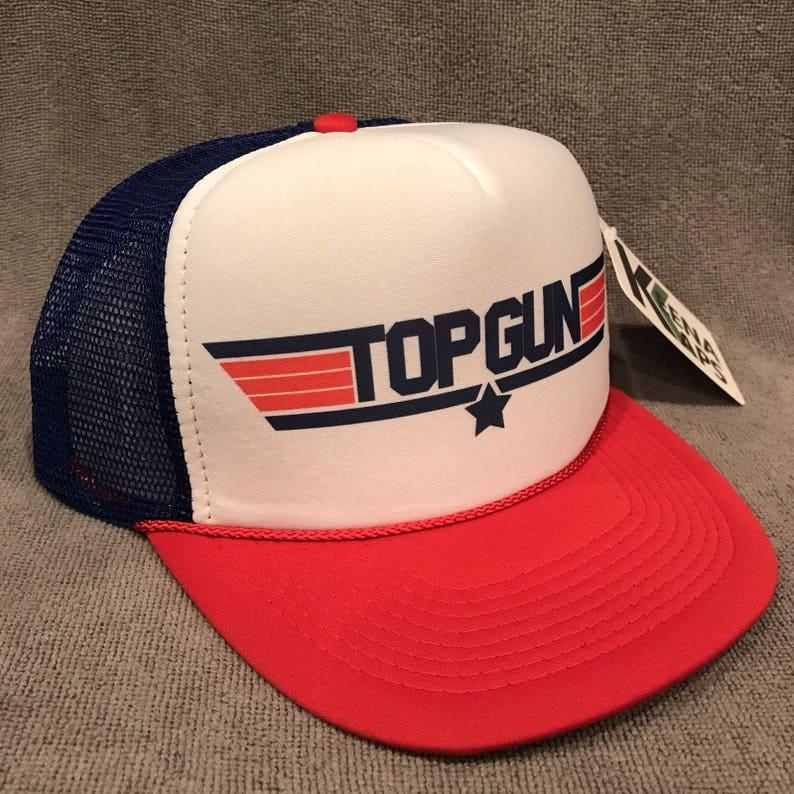 060ca34cb24 Top Gun Movie Trucker Hat Tom Cruise Vintage Mesh Snapback