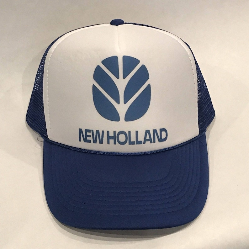 afa70268 Vintage New Holland Tractors Trucker Hat Agriculture Mesh Back | Etsy