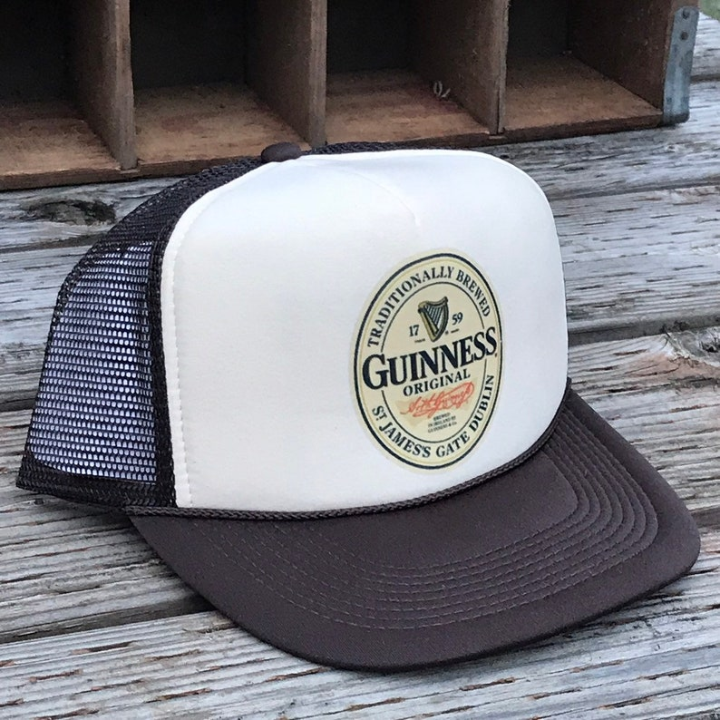 c9de54f11a431 Guinness Original Irish Beer Trucker Hat Vintage Snapback