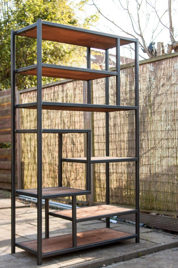 Industriële Kast Van Staal En Hout Industrial Wood And Steel Cabinet Steampunk Vintage Retro Living Loft Stained