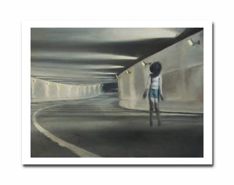 Justin Snodgrass: Tunnel, 2012. Fine art giclée print from oil painting. Available in quality poster paper or archival cotton rag.