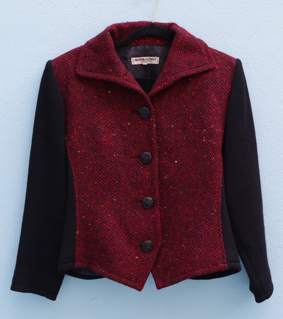 SAINT LAURENT Vintage Wool Jacket Circa 1970's Yve
