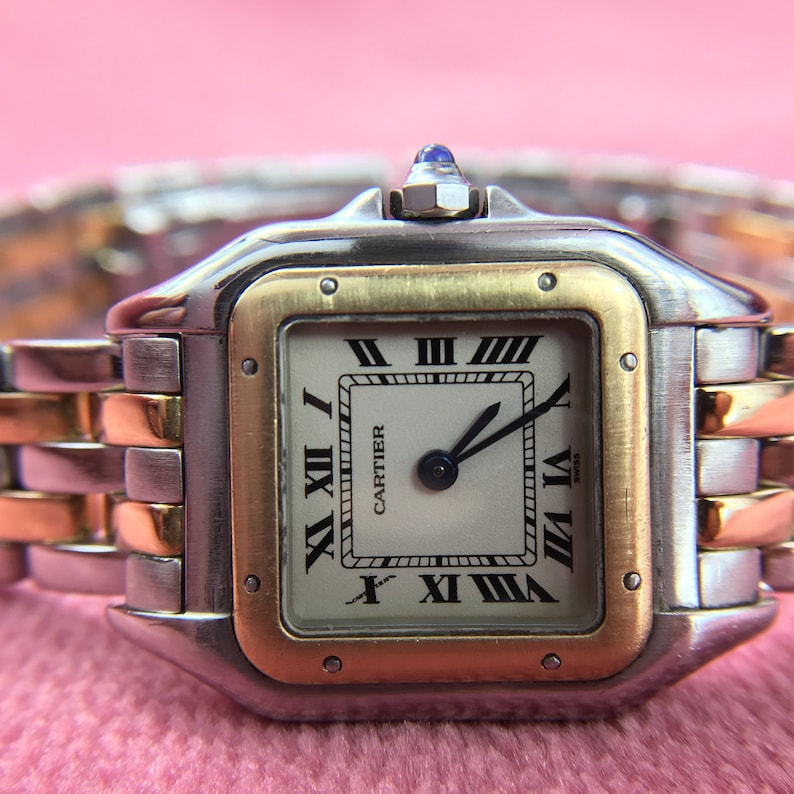 32f421062c1a Cartier Panthere Two Tone 18k Yellow Gold Ladies Watch