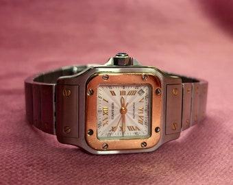 Cartier Santos Galbee 18K & Stainless Steel Ladies Watch