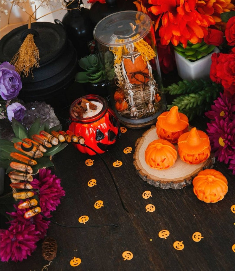 PUMPKIN BOX Pumpkin wax melts Crystal Crown Pumpkin candle image 1