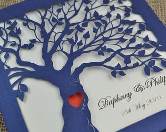 Romantic Laser Cut Wedding invitation