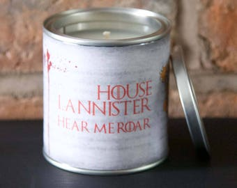 Game of Thrones candle House Lannister
