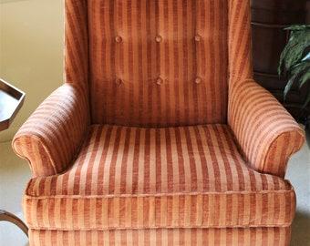 Vintage Orange Chair Etsy