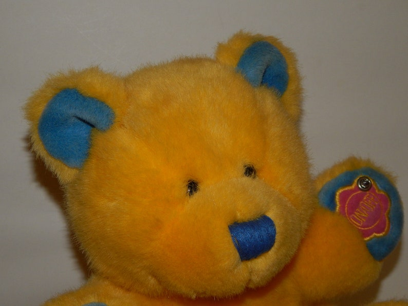 Toy Radio Stuffed Bear Volume Tuning Controls Indicator Light Yellow Battery Operated Vintage Electric Kids Teddy Tested Working Cool Vtg