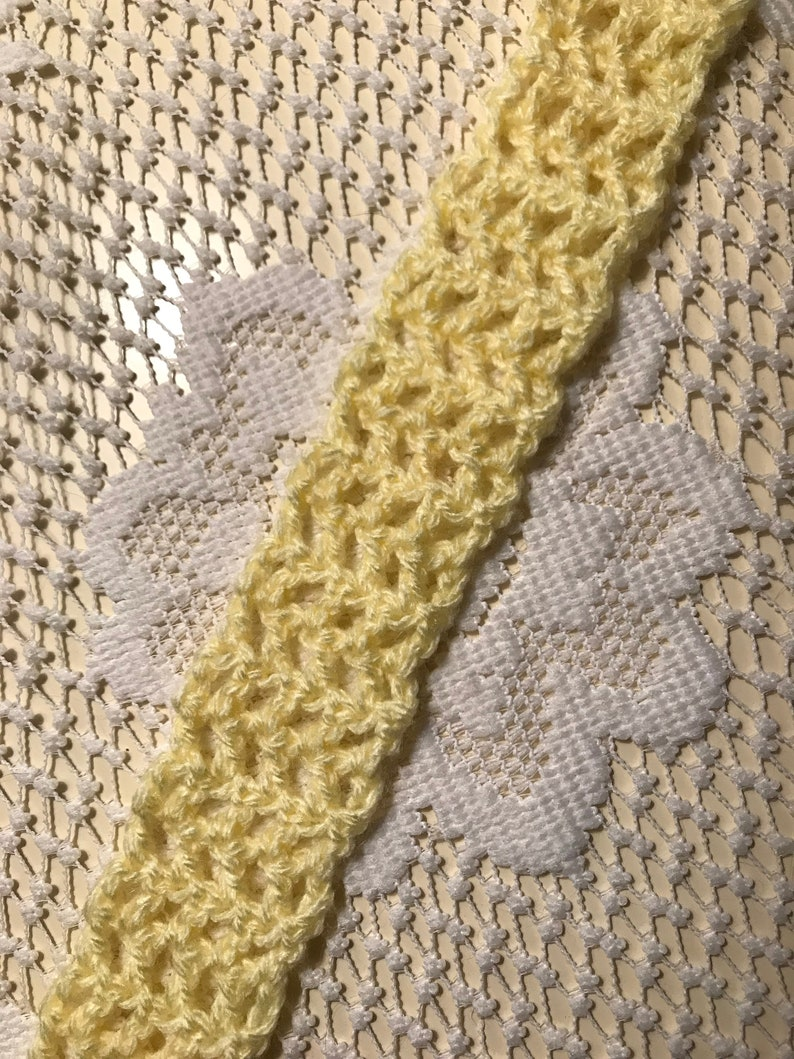Yellow Scarf | Children's Scarf | Handmade Crochet | Crochet Scarf | Scarf  | Muffler | Doll Scarf | Doll Accessory