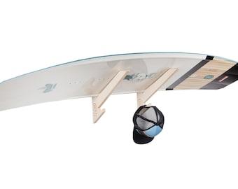 Snowboard Rack & Kiteboard Rack - Plywood - Horizontal Wall-Mounted Indoor and Garage Board Storage Rack