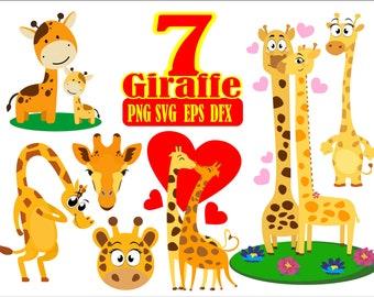 Giraffe Svg Giraffe Clipart Giraffe Cut File For Cricut Etsy