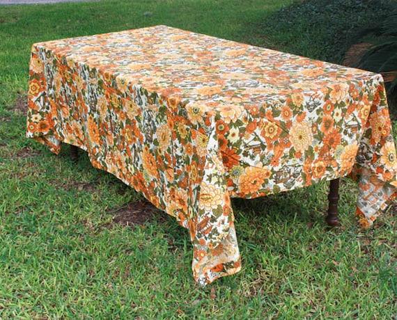Marvelous Vintage House N Home Fabrics U0026 Draperies Barkcloth Cotton Fall | Etsy