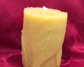 Holiday Unscented Scented Bees Wax Folded Leaf Candle