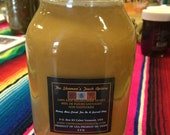 Buy 2 2.5 lb Jars Raw Honey get 1 Bees Wax Pillar Candle for Free