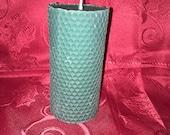 Holiday Balsam Fir Sented 6 inch Honey Comb Pattern Bees Wax Pillar Candle