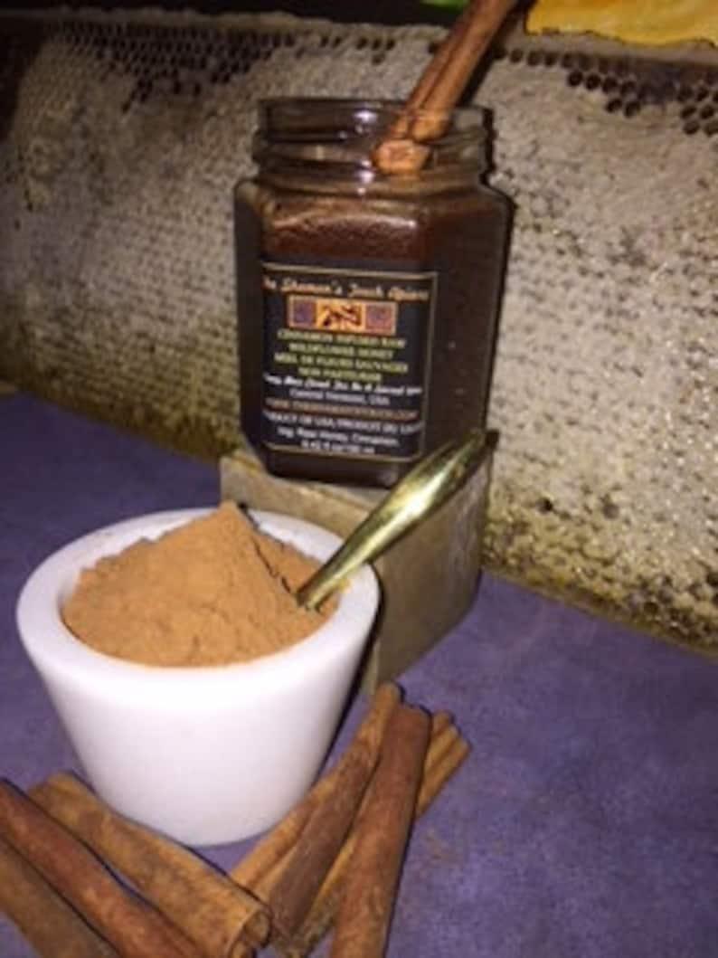 Cinnamon Infused Raw Honey image 0