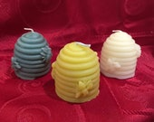6 Pack Box Beeswax Honeybee Hive Votive Candles