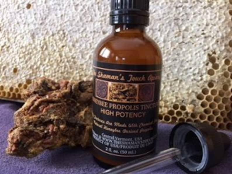 1/50 ml Bottle Honeybee Propolis Tincture. image 0