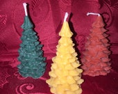 Christmas Tree Scented Bees Wax Pine Tree Candle 4 inch Pine Scented or Unscented