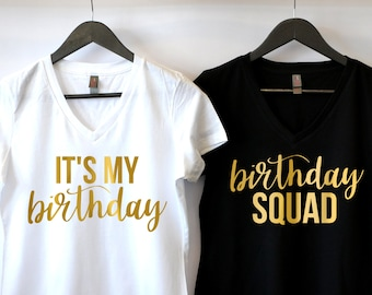 Birthday Shirt For Women T Squad Thirty Af Girl B Day Happy Its My